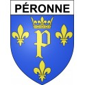 Stickers coat of arms Péronne adhesive sticker