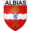 Stickers coat of arms Albias adhesive sticker