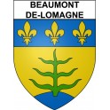 Stickers coat of arms Beaumont-de-Lomagne adhesive sticker