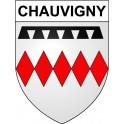 Chauvigny 86 ville Stickers blason autocollant adhésif