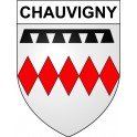 Stickers coat of arms Chauvigny adhesive sticker