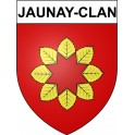 Stickers coat of arms Jaunay-Clan adhesive sticker