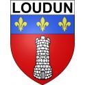 Loudun 86 ville Stickers blason autocollant adhésif