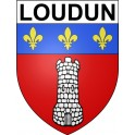 Stickers coat of arms Loudun adhesive sticker
