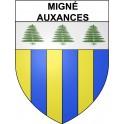 Migné-Auxances 86 ville Stickers blason autocollant adhésif