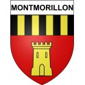 Stickers coat of arms Montmorillon adhesive sticker