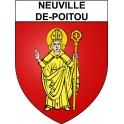 Neuville-de-Poitou 86 ville Stickers blason autocollant adhésif