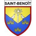 Stickers coat of arms Saint-Benoît adhesive sticker
