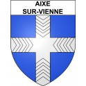 Stickers coat of arms Aixe-sur-Vienne adhesive sticker