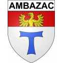 Stickers coat of arms Ambazac adhesive sticker