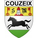Stickers coat of arms Couzeix adhesive sticker
