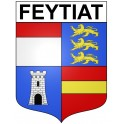 Feytiat 87 ville Stickers blason autocollant adhésif