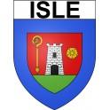 Isle 87 ville Stickers blason autocollant adhésif