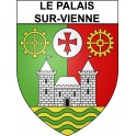 Stickers coat of arms Le Palais-sur-Vienne adhesive sticker