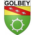 Stickers coat of arms Golbey adhesive sticker