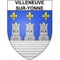 Stickers coat of arms Villeneuve-sur-Yonne adhesive sticker