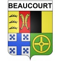 Stickers coat of arms Beaucourt adhesive sticker