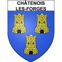 Châtenois-les-Forges 90 ville Stickers blason autocollant adhésif