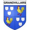 Grandvillars 90 ville Stickers blason autocollant adhésif