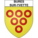 Stickers coat of arms Bures-sur-Yvette adhesive sticker