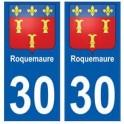 30 Roquemaure blason ville autocollant plaque stickers