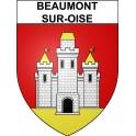 Beaumont-sur-Oise Sticker wappen, gelsenkirchen, augsburg, klebender aufkleber