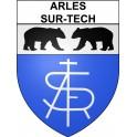 Arles-sur-Tech 66 ville Stickers blason autocollant adhésif