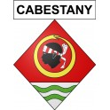Stickers coat of arms Cabestany adhesive sticker