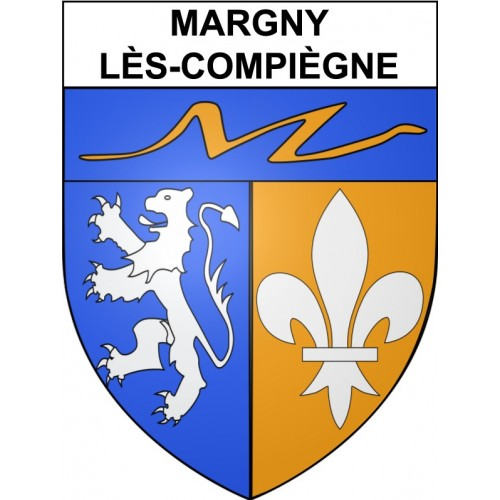 Stickers coat of arms Margny-lès-Compiègne adhesive sticker
