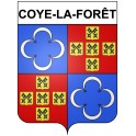 Stickers coat of arms Coye-la-Forêt adhesive sticker