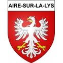 Stickers coat of arms Aire-sur-la-Lys adhesive sticker