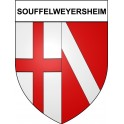 Stickers coat of arms Souffelweyersheim adhesive sticker