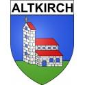 Altkirch 68 ville Stickers blason autocollant adhésif