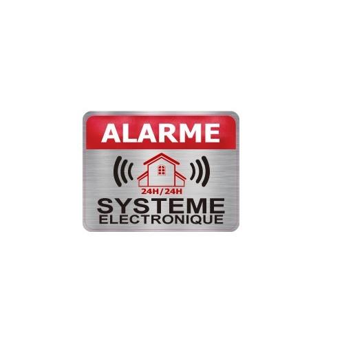Sticker store under video surveillance alarm 1