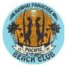 Tiki surf Board, totem pole hibiscus decal sticker adhesive 3