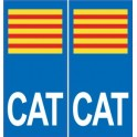 CAT catalan sticker plate