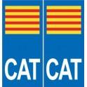 CAT catalan autocollant plaque