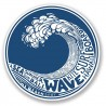 2 x Vague Motif Surf Hawaii Bali Wave logo n°9 autocollant sticker adhesif logo --10 cm