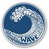 2 x Vague Motif Surf Hawaii Bali Wave logo n°9 autocollant sticker adhesif logo --10 cm