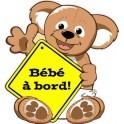 Autocollant sticker Bébé à bord ours en peluche 9