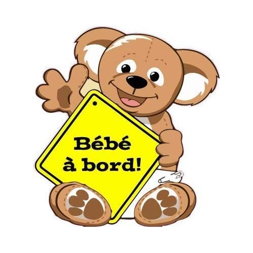 Sticker Baby on board teddy bear 9