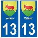 13 Velaux coat of arms city sticker plate