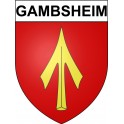 Stickers coat of arms Gambsheim adhesive sticker