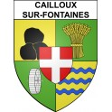 Stickers coat of arms Cailloux-sur-Fontaines adhesive sticker
