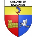 Stickers coat of arms Colombier-Saugnieu adhesive sticker