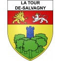 La Tour-de-Salvagny 69 ville sticker blason écusson autocollant adhésif
