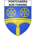 Pontcharra-sur-Turdine 69 ville sticker blason écusson autocollant adhésif