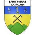 Stickers coat of arms Saint-Pierre-la-Palud adhesive sticker
