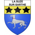 Stickers coat of arms La Suze-sur-Sarthe adhesive sticker