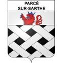 Parcé-sur-Sarthe 72 ville sticker blason écusson autocollant adhésif